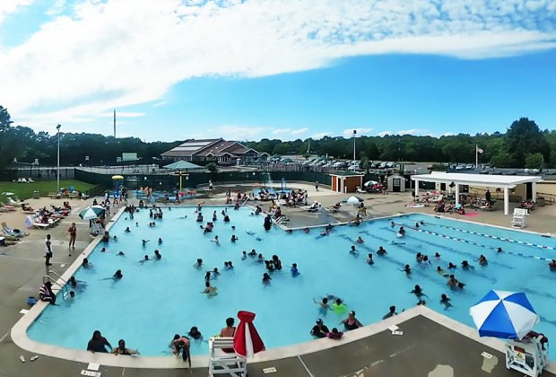 Arrive early at Centereach Pool, which tends to fill up on hot summer days. Photo courtesy of the Town of Brookhaven