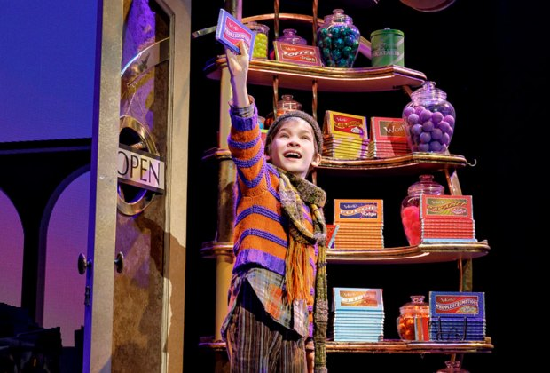 A scene from Charlie and the Chocolate Factory. Photo by Joan Marcus