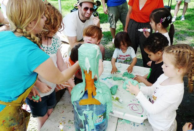 The Children's Museum of the Arts hosts a Free Art Island Outpost on Governors Island. Photo courtesy of the event