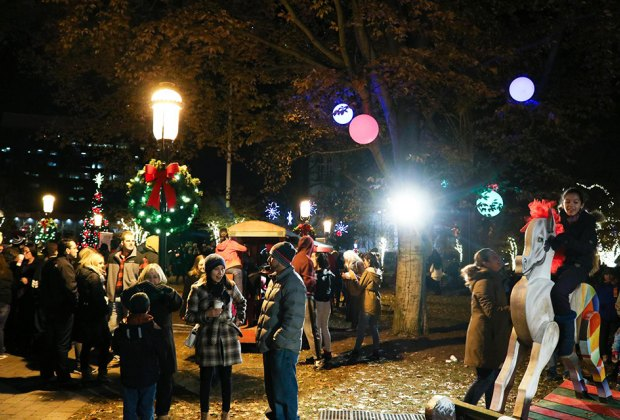 For a night of cheer, stop by the Christmas Festival at the Morristown Green. Photo courtesy of Morristown Green