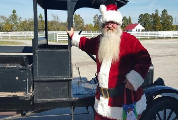 Santa's making a stop at Christmas in the Park/Photo courtesy of George Ranch Historical Park