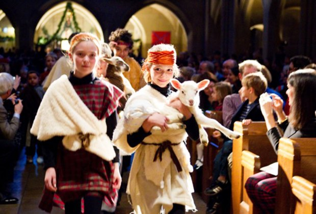 The Christmas Pageant at The Episcopal Church of the Heavenly Rest. Photo courtesy of the church