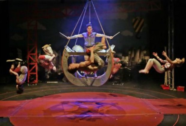 The wacky antics of Circus Oz. Photo by Prudence Upton