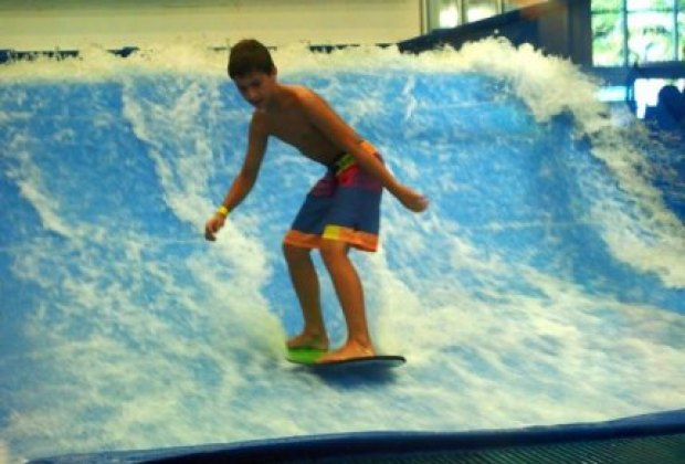 Surfing the Flow Rider at Clearwater Beach