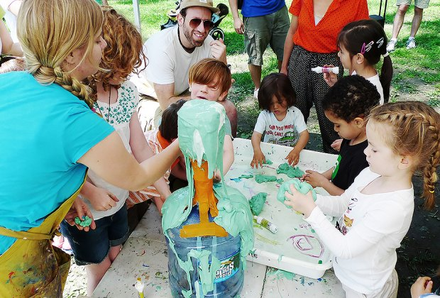 The Children's Museum of the Arts brings hands-on art projects to Governors Island. Photo courtesy of the museum