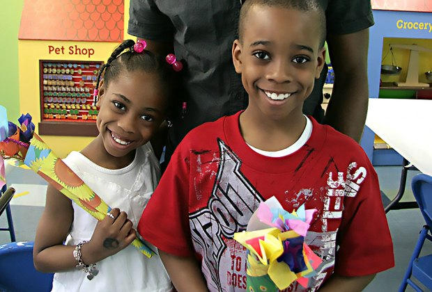 Make a bouquet of flowers for mom at the Children's Museum of Manhattan. Photo courtesy of the museum