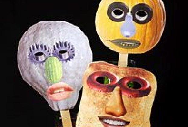 Collage Halloween Mask from Martha Stewart