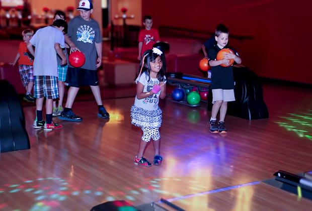 Colonial bowling has smaller, lightweight balls for younger kids.
