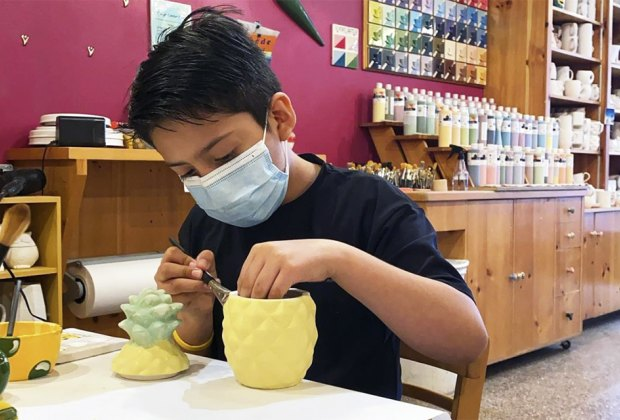 Paint ceramics and pottery at ColorMeMine's two Manhattal locations