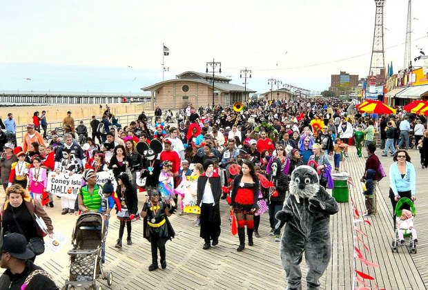 Bring the family to the boardwalk for the Coney Island Halloween Parade. Photo courtesy of the event