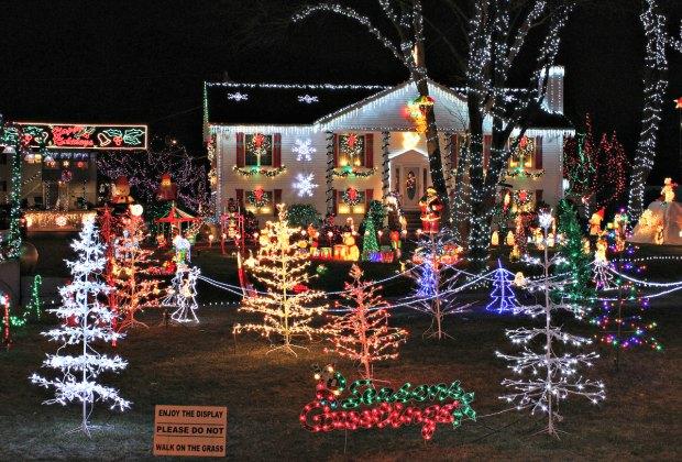 Saugus's Lynn Fells Parkway sparkles every December.