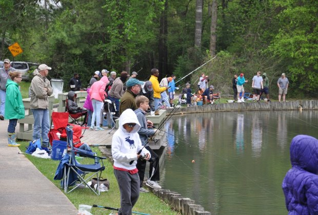 Grab your poles and get ready for a morning of fishing with friends at the Creekwood Fishing Derby./Photo courtesy of Perry Frank.