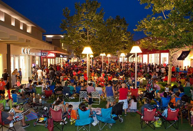Enjoy a concert on the Green at the Cross County Mall Summer Fest Concert Series.  Photo courtesy of the the venue