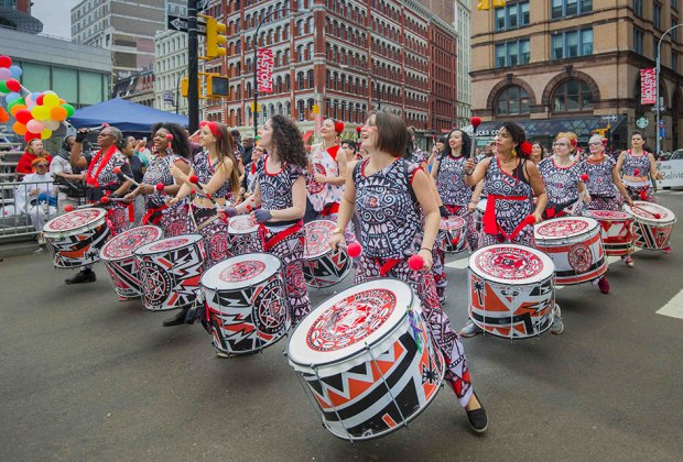 Rain or shine, over 10,000 dancers will hit the street for the Dance Parade. Photo courtesy of the event