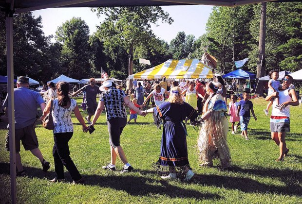 Experience Native American culture, along with arts and crafts vendors, storytelling, children's programs, and more at the Daniel Nimham Pow Wow. Photo courtesy of the event