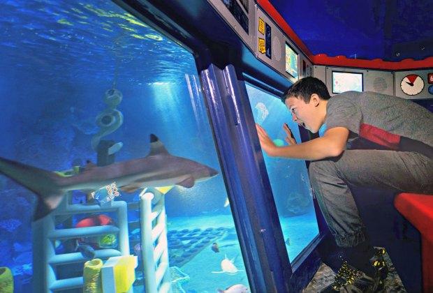 Lego City Deep Sea Adventure submarine ride at Legoland California, photo by Sandy Huffaker/Legoland