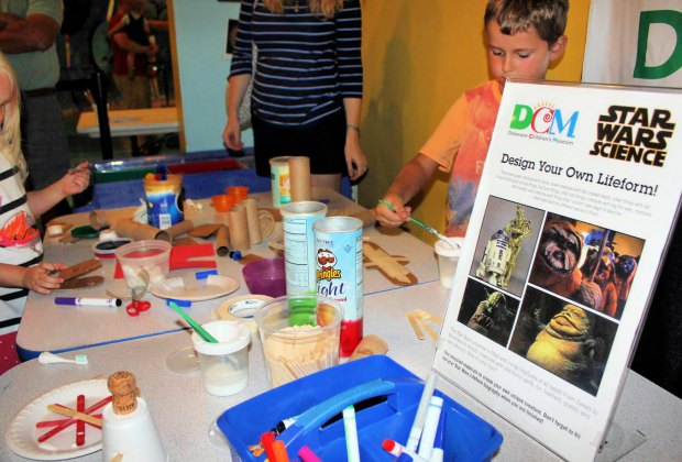 Design your own lifeform at the Star Wars Science Day. Photo courtesy of Delaware Children's Museum