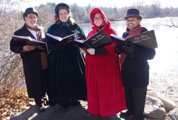 Carolers at the Dickens Festival. Photo courtesy of the Charles River Museum