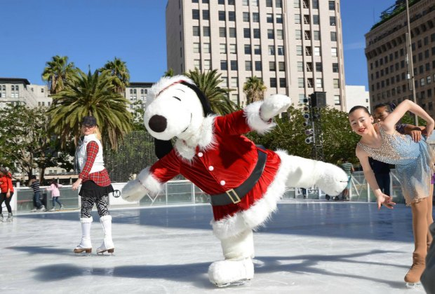 Go skating in Pershing Square. Photo courtesy of Downtown on Ice
