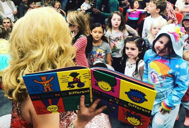 Drag Queen Story Hour at Eagle Rock Branch Library is dedicated to literacy, love, acceptance, and joy. Photo courtesy of the library