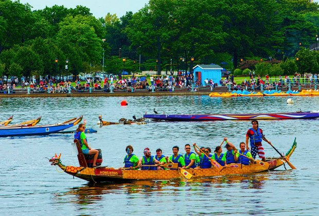 The annual Dragon Boat races in Corona, Queens are a colorful sight to behold. Photo courtesy of the event