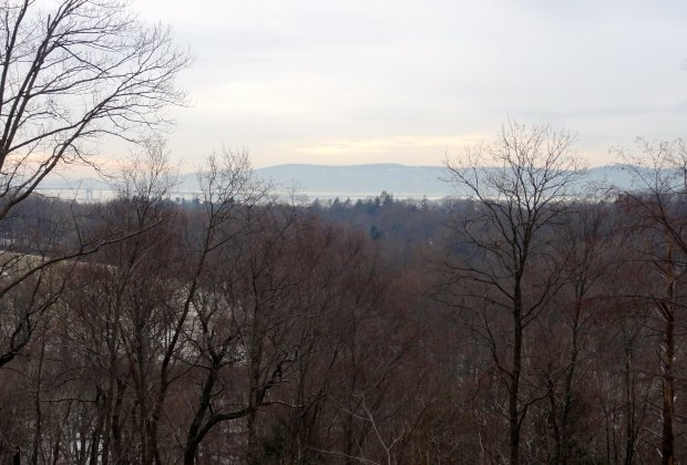View from atop Eagle Hill in Rockefeller State Park Preserve