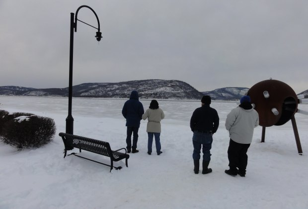 Peekskill Riverfront Green (in winter)