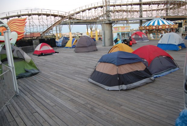 Bunkdown Area for tents at Morey's Piers