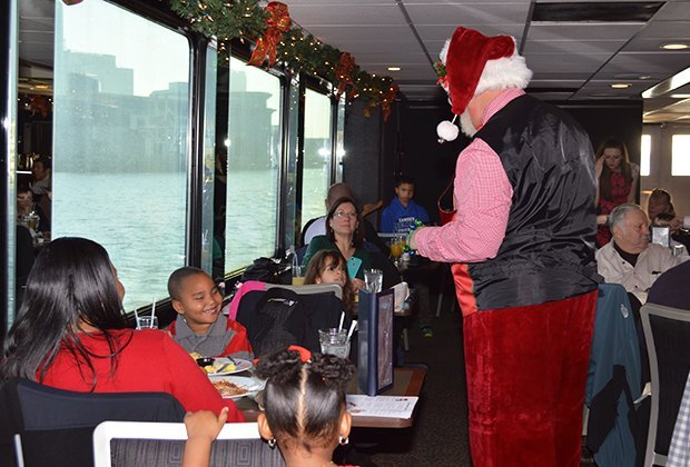 Celebrate with Santa over lunch aboard a Spirit Cruise. Photo courtesy of Spirit Cruises