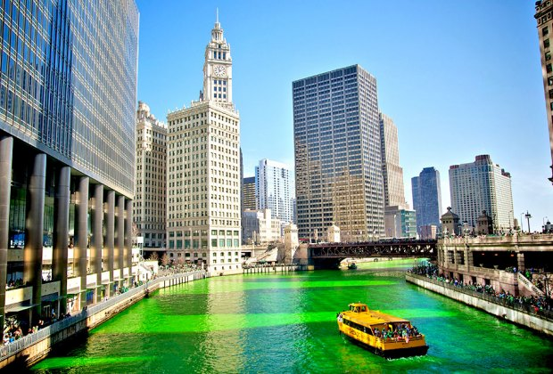 Kids will love to see the Chicago River turn green!  Photo by Max Talbot-Minkin via Flickr