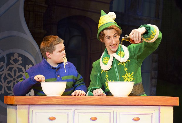 Elf The Musical is the tale of Buddy, an orphan who mistakenly crawls into Santa's bag of gifts and is transported back to the North Pole. Photo courtesy of the theater