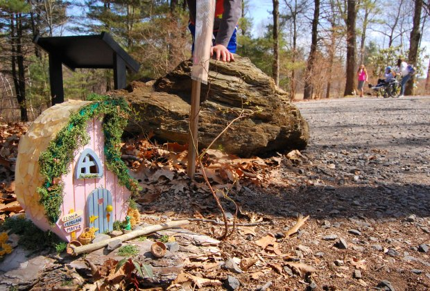 Kids will play I Spy with the fairy houses in the Enchanted Garden. Photo courtesy of Tower Hill Botanic Garden