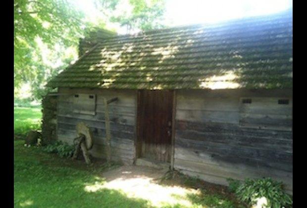 The pioneer cabin that Eric Sloane built himself