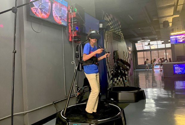 Big kids will love testing out the VR games at Escape Virtuality.