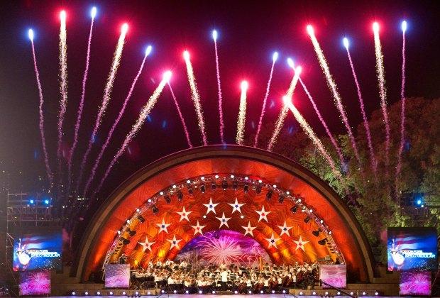 Fireworks over the Esplanade. Photo courtesy of Massachusetts Office of Travel & Tourism