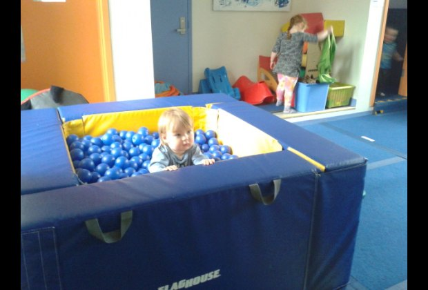 And who doesn't adore a ball pit? My kids dove right in at CAP House