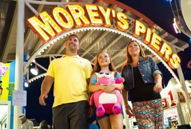 Dads ride and slide for free on Father's Day at Morey's Piers. Photo courtesy of Morey's Piers