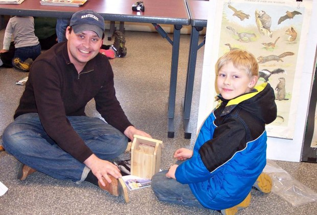 Learn how to build a Nest Box to give birds a home in your yard. Photo courtesy of Audubon Greenwich