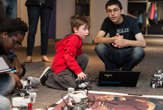 Children enjoy hands-on learning at Feb Fest. Photo courtesy of MIT Museum
