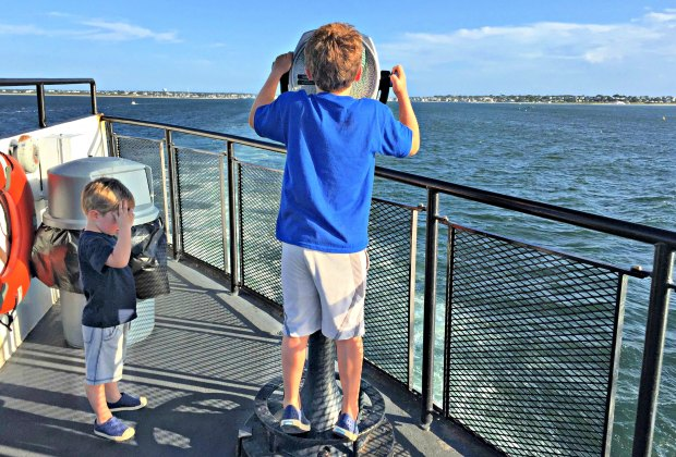 A 45-minute ferry ride, and you're on Martha's Vineyard. Photo by Mommy Poppins