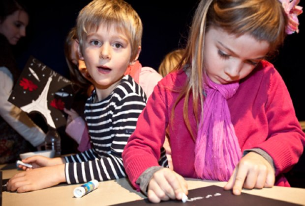 CineKids arts and crafts, photo by Junenoire Mitchell, courtesy of FIAF
