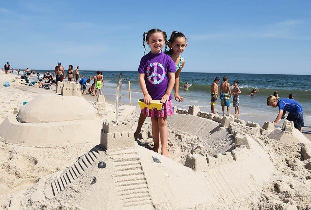 Build the perfect sand castle on one of Fire Island's pristine beaches. Photo courtesy of the National Park Service