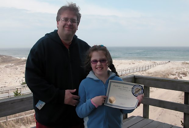 father and daughter on fire island