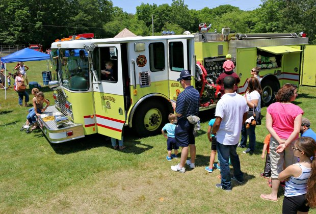 Touch a truck at Eisenhower Park. Photo courtesy of Junior Woman's Club of Milford