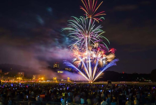 See fireworks after listening to a free New York Philharmonic outdoor concert. Photo courtesy of  the Philharmonic
