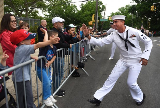 Thousands of men and women from the US Marine Corps, Navy, and Coast Guard will touch down on dry land during Fleet Week. Photo courtesy of Fleet Week NYC