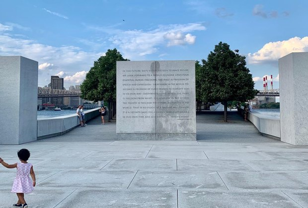 Take in the stunning architecture at Franklin D. Roosevelt Four Freedoms Park. Photo courtesy of Four Freedoms Park