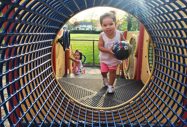 Little kids will love crawling through the tubes at Fraser Avenue Park in North Merrick.