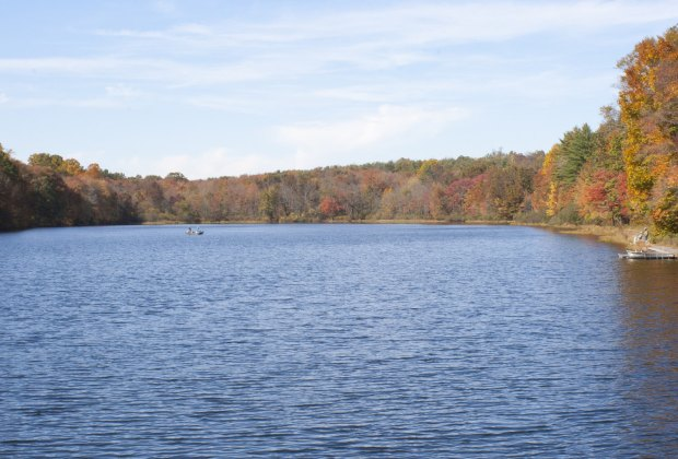 French Creek State Park and its campground offers a beautiful view of the fall colors, Photo courtesy of PA DCNR-Flickr