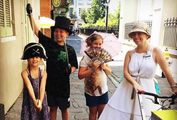 Kids get to see, hear, taste, and touch the past on a tour with French Quartour Kids. Photo courtesy of the company